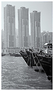 Moored boats, Hong Kong Harbour 2