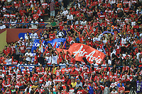 Football - The fans cheer during the friendly match against Kelantan Select XI during the QPR Asian Tour 2012 at the Shah Alam Stadium, Selangor, Malaysia