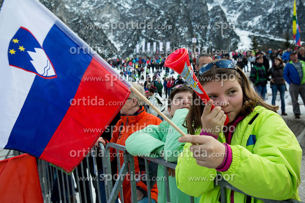 Fans during the Ski Flying Individual Qualification at Day 1 of FIS World Cup Ski Jumping Final, on March 19, 2015 in Planica, Slovenia. Photo by Vid Ponikvar / Sportida
