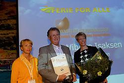 DK caption:<br /> Herning, Danmark, 20140221: <br /> MCH Messe, Ferie for alle.   Årets RejseJournalist, Mogens Hansen, Jyllands-Posten<br /> Foto: Lars Møller<br /> UK Caption:<br /> Herning, Denmark, 20140221: <br /> MCH Fair, Ferie for alle.   Årets RejseJournalist, Mogens Hansen, Jyllands-Posten<br /> Photo: Lars Moeller