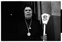 Alcañiz,Teruel,Spain.A woman during Easter Procession.©Carmen Secanella