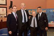 DESCRIZIONE : Roma Basket Day Hall of Fame 2014<br /> GIOCATORE : Simone Pianigiani Fabrizio Della Fiori Dan Peterson Boscia Tanjevic<br /> SQUADRA : FIP Federazione Italiana Pallacanestro <br /> EVENTO : Basket Day Hall of Fame 2014<br /> GARA : Roma Basket Day Hall of Fame 2014<br /> DATA : 22/03/2015<br /> CATEGORIA : Premiazione<br /> SPORT : Pallacanestro <br /> AUTORE : Agenzia Ciamillo-Castoria/GiulioCiamillo