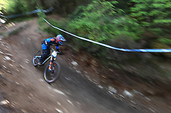 Laurie Greenland of MS Mondraker Team during day two of the 2017 UCI Mountain Bike World Cup at Fort William. PRESS ASSOCIATION Photo. Picture date: Sunday June 4, 2017. Photo credit should read: Tim Goode/PA Wire. RESTRICTIONS: Editorial use only, no commercial use without prior permission
