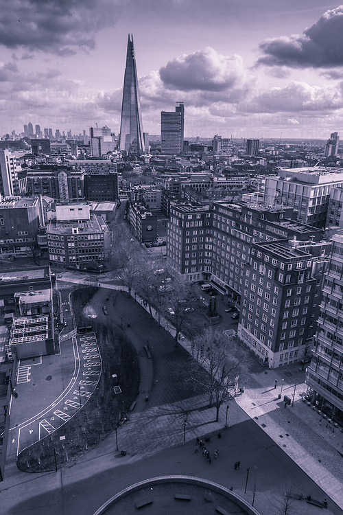 Distant view of the Shard in London