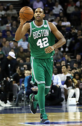 Boston Celtics' Al Horford during the NBA London Game 2018 at the O2 Arena, London. PRESS ASSOCIATION Photo. Picture date: Thursday January 11, 2018. See PA story BASKETBALL London. Photo credit should read: Simon Cooper/PA Wire. RESTRICTIONS: Editorial use only, No commercial use without prior permission