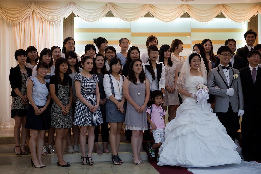 Daegu/South Korea, Republic Korea, KOR, 05.09.2010: Modern Korean wedding in the South Korean city of Daegu.