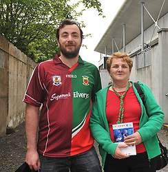 Mayo Supporters David and Kay Lyons from Ballyhaunis at Pearse Stadium before the Connacht Championship semi-final clash.<br /> Pic Conor McKeown
