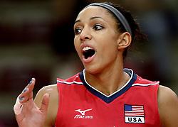 24-09-2014 ITA: World ChampionshipVolleyball Kazachstan - USA, Verona<br /> USA wint met 3-0 / Alisha Glass