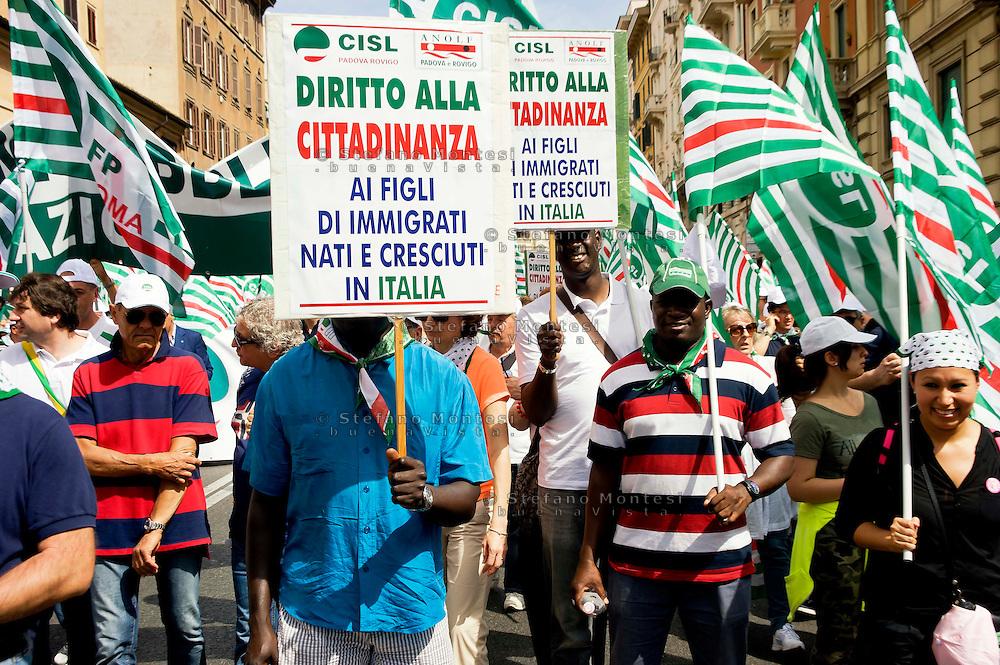 Roma, 22 Giugno 2013<br /> Lavoro è Democrazia. Manifestazione di CGIL, CISL e UIL<br /> Demonstration by trade unions in Rome