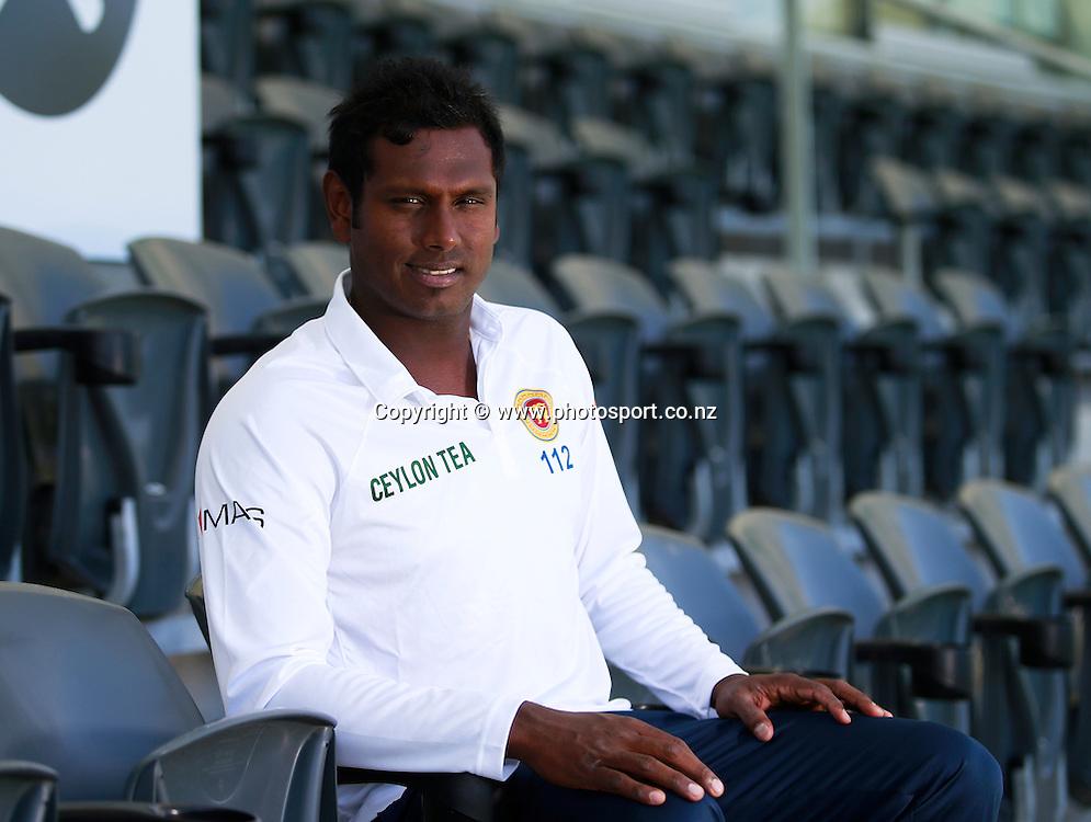 Angelo Mathews captain of Sri Lanka before team training at Hagley Oval, Christchurch. 24 December 2014 Photo: Joseph Johnson / www.photosport.co.nz