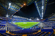 General view inside Stamford Bridge during the Premier League match between Chelsea and Arsenal at Stamford Bridge, London, England on 21 January 2020.