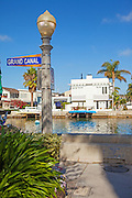 Grand Canal of Balboa Island in Newport Beach California