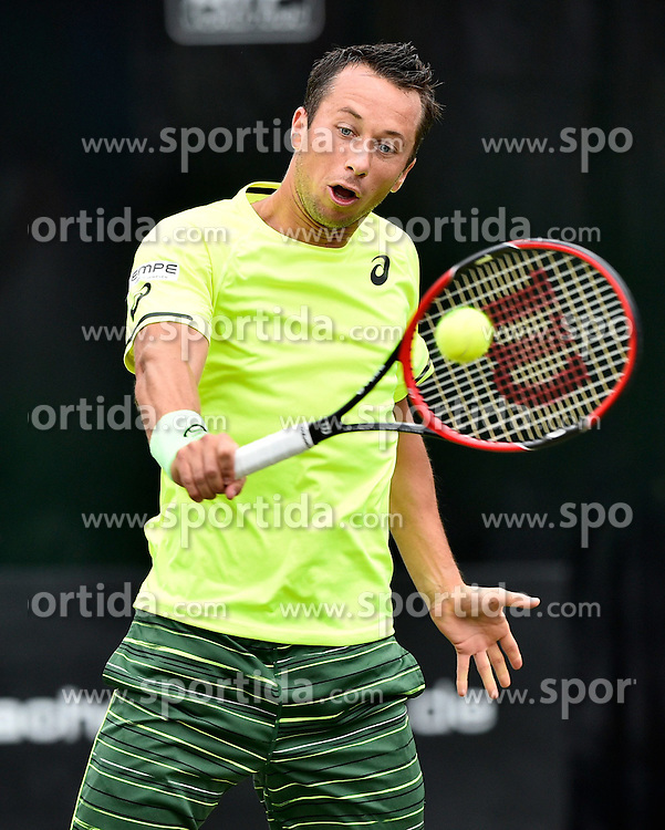 10.06.2015, Tennis Club Weissenhof, Stuttgart, GER, ATP Tour, Mercedes Cup Stuttgart, im Bild PHilipp Kohlschreiber (GER) Aktion // during the Mercedes Cup of ATP world Tour at the Tennis Club Weissenhof in Stuttgart, Germany on 2015/06/10. EXPA Pictures &copy; 2015, PhotoCredit: EXPA/ Eibner-Pressefoto/ Weber<br /> <br /> *****ATTENTION - OUT of GER*****