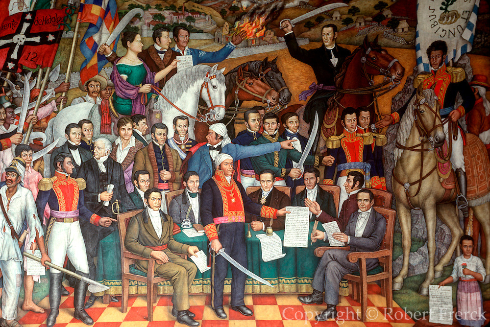 MEXICO, MEXICO CITY, MURALS Independence Mural, Chapultepec Palace