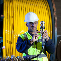 Subsea cable manufacture for offshore projects at JDR Cables , Hartlepool. Windfarm renewables and offshore Oil & Gas Nov 2012 Littleport ,ELY - Shots of the JDR Facility at Littleport