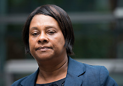 """© London News Pictures. 27/06/2013. London, UK. DOREEN LAWRENCE, leaving the Home Office in London after meeting with Home Secretary Theresa May for talks following claims police tried to """"smear"""" the family in the wake of the 1993 murder of Stephen Lawrence. Photo credit: Ben Cawthra/LNP"""
