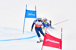 SANTACANA MAIZTEGUI Yon Guide: GALINDO GARCES Miguel, B2, ESP, Men's Giant Slalom at the WPAS_2019 Alpine Skiing World Championships, Kranjska Gora, Slovenia