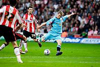 Photo: Alan Crowhurst.<br />Southampton v Sunderland. Coca Cola Championship. 09/04/2007. Sunderland's Grant Leadbitter scores the winning goal 1-2.