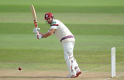 Somerset's James Hildreth in action during his innings. - Photo mandatory by-line: Alex Davidson/JMP - Mobile: 07966 386802 - 22/08/15 - SPORT - CRICKET - LV County Championship Division One - Day Two - Somerset v Worcestershire - The County Ground, Taunton, England.