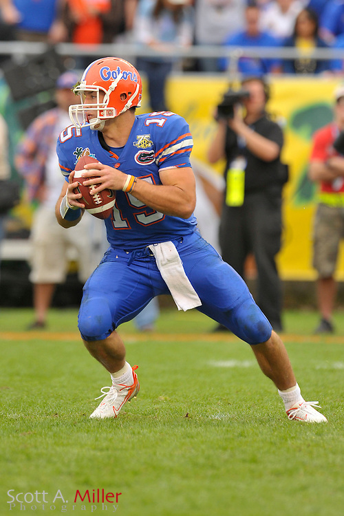 Jan. 1, 2008; Orlando, FL, USA; Florida Gators quarterback Tim Tebow (15) during the Gators 41-35 loss to the Michigan Wolverines in the Capital One Bowl at the Citrus Bowl...©2008 Scott A. Miller