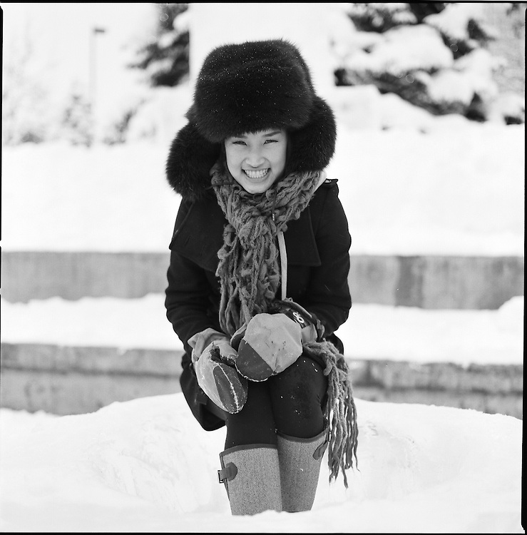 Girl in Anchorage, Alaska's Town Square. 2007