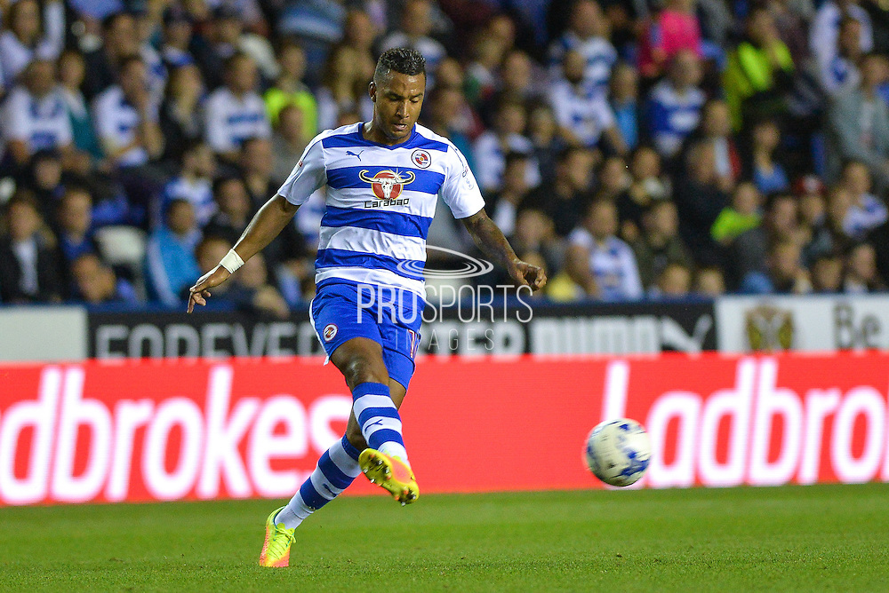 Reading Defender, Liam Moore (16) during the EFL Sky Bet Championship match between Reading and Ipswich Town at the Madejski Stadium, Reading, England on 9 September 2016. Photo by Adam Rivers.