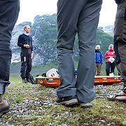 Basecamp Tungestølen. An annual summer camp for young adults teaching mountaineering and trekking skills, arranged by The Norwegian Trekking Association, and made possible by funding from Sparebankstiftelsen DNB.