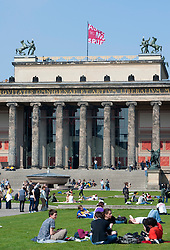 Exterior of Altes Museum on Museuminsel in Berlin Germany 2009