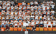 Mount Vernon fans cheer during the fourth game of a 3A semifinal in the state volleyball tournament at the U.S. Cellular Center at 370 1st Ave E on Friday afternoon, November 12, 2010. (Stephen Mally/Freelance)