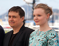 Director Cristian Mungiu and actress Maria Dragus at the gala screening for the film Graduation (Bacalaureat) at the 69th Cannes Film Festival, Thursday 19th May 2016, Cannes, France. Photography: Doreen Kennedy