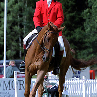 Blair Castle Horse Trials...24.8.2000.<br />Dressage competitor Tom Clark of Scotland on Colburn.<br /><br />Picture Copyright John Lindsay.<br />Perthshire Picture Agency<br />Tel: 01738 623350  Mobile: 07775 852112