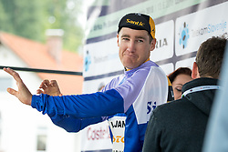 Benjamin Hill of Ljubljana Gusto Xaurum celebrates at ceremony after 2nd Stage of 25th Tour de Slovenie 2018 cycling race between Maribor and Rogaska Slatina (152,7 km), on June 14, 2018 in  Slovenia. Photo by Matic Klansek Velej / Sportida