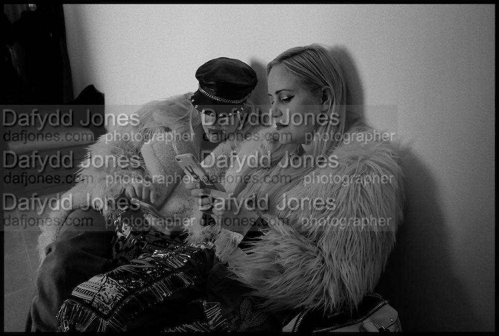 SAM BECKERMAN; ( BLUE ) CAILLI BECKERMAN, , Julia Peyton-Jones, Hans Ulrich Obrist and Coach host the Serpentine Future Contemporaries Party. Serpentine Sackler Gallery. Kensington Gdns. London. 21 February 2015