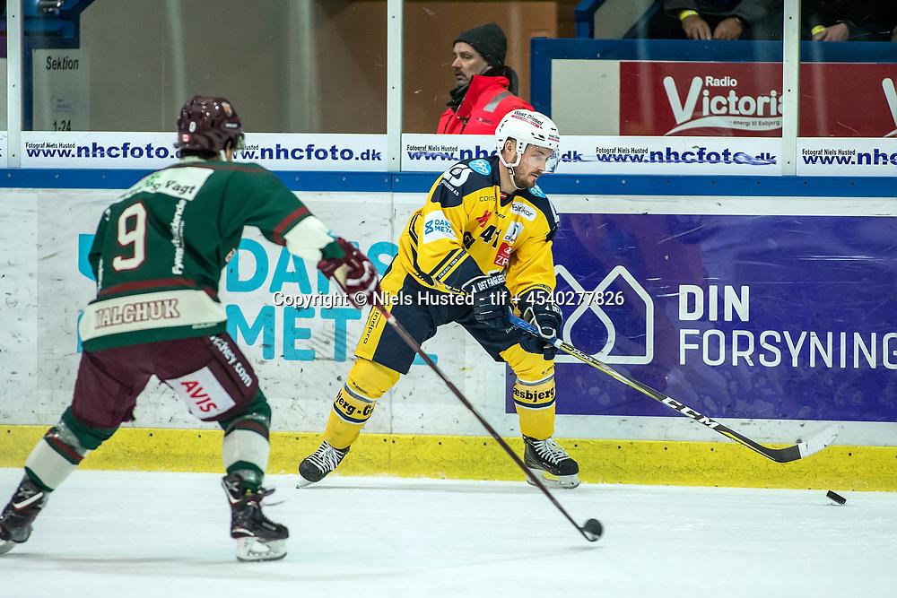 Ishockey, Metalligaen, Esbjerg Energy og Odense Bulldogs 3:1. #41 Esben Nielsen, Esbjerg Energy