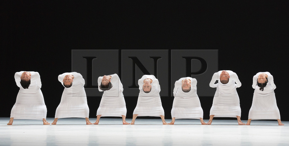 """© Licensed to London News Pictures. 20/10/2014. London, England. Pictured: Photocall of the UK premiere of the Sadler's Wells commision """"7"""". TAO Dance Theatre performs a new double bill, 6 & 7, as part of Dance Umbrella 2014 at Sadler's Wells Theatre, London on 20 and 21 October 2014. Choreographed by Tao Ye with dancers Duan Ni, Lei Yan, Fu Liwei, Wang Mingchao, Mao Xue, Li Shunjie and Quian Tingting. Photo credit: Bettina Strenske/LNP"""