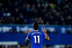 Theo Walcott of Everton celebrates scoring a goal to make it 1-0 - Mandatory by-line: Robbie Stephenson/JMP - 23/12/2018 - FOOTBALL - Goodison Park - Liverpool, England - Everton v Tottenham Hotspur - Premier League