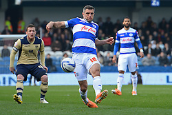 QPR's Aaron Hughes  - Photo mandatory by-line: Mitchell Gunn/JMP - Tel: Mobile: 07966 386802 01/03/2014 - SPORT - FOOTBALL - Loftus Road - London - Queens Park Rangers v Leeds United - Championship
