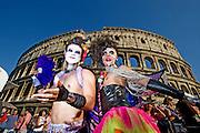 2013/06/15 Roma, corteo del Gay Pride 2013. Nella foto due queers.<br /> Rome, Gay Pride rally 2013. In the picture two queers - &copy; PIERPAOLO SCAVUZZO