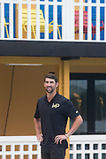 MICHAEL PHELPS PRESENTS ITS NEW BRAND MP TO THE POOL MOLITOR, ON 16 FEBRUARY 2017 IN PARIS.<br /> ©Exclusivepix media