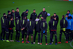 LIVERPOOL, ENGLAND - Monday, December 10, 2018: SSC Napoli's Marek Hamšík and his squad during a training session at Anfield ahead of the UEFA Champions League Group C match between Liverpool FC and SSC Napoli. (Pic by David Rawcliffe/Propaganda)