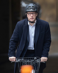 CAPTION CORRECTION © Licensed to London News Pictures. 21/10/2019. London, UK. Conservative MP Jo Johnson cycles from Parliament. Prime Minister Boris Johnson will attempt to secure a vote on his new EU withdrawal agreement this week. Photo credit: Peter Macdiarmid/LNP