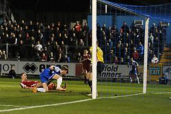 Bristol Rovers' Matt Taylor scores a goal. - Photo mandatory by-line: Dougie Allward/JMP - Mobile: 07966 386802 - 20/03/2015 - SPORT - Football - England - Memorial Stadium - Bristol Rovers v Aldershot - Vanarama Football Conference