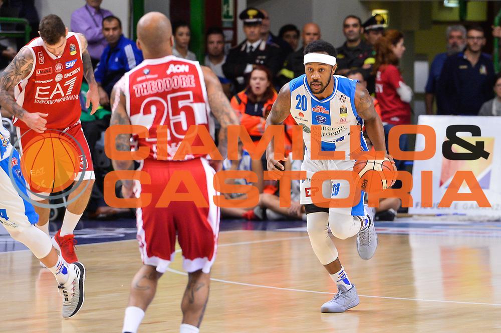 Levi Randolph<br /> Banco di Sardegna Dinamo Sassari - Olimpia EA7 Emportio Armani Milano<br /> LegaBasket LBA Poste Mobile 2017/2018<br /> Sassari, 29/10/2017<br /> Foto L.Canu / Ciamillo-Castoria