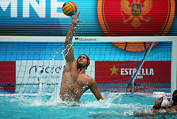 July 24, 2018 - Barcelona, Spain - Dejan Lazovic (Montenegro) during the match between Croacia and Montenegro, corresponding to the women group stage of the European Water Polo Championship, on 19th July, 2018, in Barcelona, Spain. (Credit Image: © Joan Valls/NurPhoto via ZUMA Press)