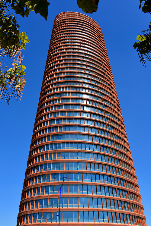 Sevilla Tower on Cartuja Island in Seville, Spain<br />