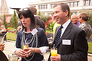 KATE DIXON; CHRIS SANDFORD, RENSBURG SHEPHERD, Archant Summer party. Kensington Roof Gardens. London. 7 July 2010. -DO NOT ARCHIVE-© Copyright Photograph by Dafydd Jones. 248 Clapham Rd. London SW9 0PZ. Tel 0207 820 0771. www.dafjones.com.