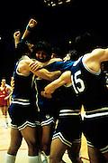 Europei Francia 1983 - Nantes: esultanza team italia, alberto tonut