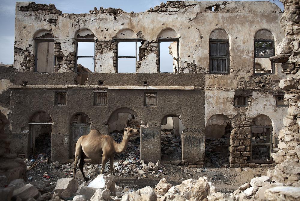 The scars of the civil war still visible in Berbera, Somaliland..