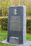 The Royal Navy Medical Service Memorial at the National Memorial Arboretum, Croxall Road, Alrewas, Burton-On-Trent,  Staffordshire, on 29 October 2018. Picture by Mick Haynes.