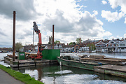 Henley on Thames. United Kingdom.   2018 Henley Royal Regatta, Henley Reach. <br />   <br /> Course Construction: Course Equipment.<br /> <br /> Wednesday  25/04/2018<br /> <br /> [Mandatory Credit: Peter SPURRIER:Intersport Images]<br /> <br /> LEICA CAMERA AG  LEICA Q (Typ 116)  f5  1/640sec  35mm  42.6MB